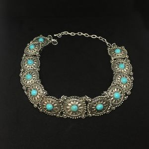 Jewelry - Turquoise choker necklace,